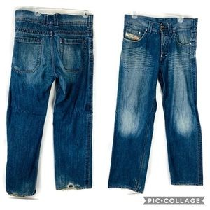 Vintage Diesel Button Fly Straight Leg Jeans 30x32